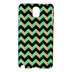 Neon And Black Modern Retro Chevron Patchwork Pattern Samsung Galaxy Note 3 N9005 Hardshell Case by creativemom