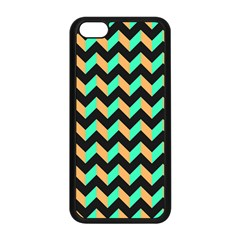 Neon And Black Modern Retro Chevron Patchwork Pattern Apple Iphone 5c Seamless Case (black) by creativemom