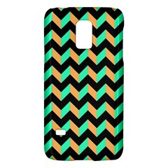 Neon And Black Modern Retro Chevron Patchwork Pattern Samsung Galaxy S5 Mini Hardshell Case  by creativemom