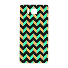 Neon And Black Modern Retro Chevron Patchwork Pattern Samsung Galaxy Alpha Hardshell Back Case by creativemom