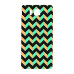 Neon and Black Modern Retro Chevron Patchwork Pattern Samsung Galaxy Alpha Hardshell Back Case Front