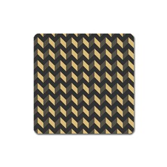 Tan Gray Modern Retro Chevron Patchwork Pattern Magnet (square) by creativemom