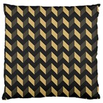 Tan Gray Modern Retro Chevron Patchwork Pattern Large Cushion Case (Single Sided)  Front