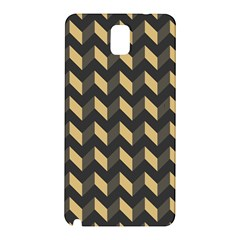 Tan Gray Modern Retro Chevron Patchwork Pattern Samsung Galaxy Note 3 N9005 Hardshell Back Case by creativemom