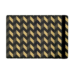 Tan Gray Modern Retro Chevron Patchwork Pattern Apple Ipad Mini 2 Flip Case by creativemom
