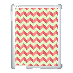 Mint Pink Modern Retro Chevron Patchwork Pattern Apple Ipad 3/4 Case (white) by creativemom