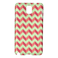 Mint Pink Modern Retro Chevron Patchwork Pattern Samsung Galaxy Note 3 N9005 Hardshell Case by creativemom