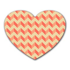 Modern Retro Chevron Patchwork Pattern Mouse Pad (heart) by creativemom