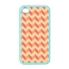 Modern Retro Chevron Patchwork Pattern Apple Iphone 4 Case (color) by creativemom