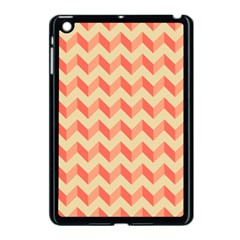 Modern Retro Chevron Patchwork Pattern Apple Ipad Mini Case (black) by creativemom