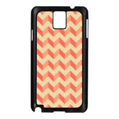 Modern Retro Chevron Patchwork Pattern Samsung Galaxy Note 3 N9005 Case (black) by creativemom
