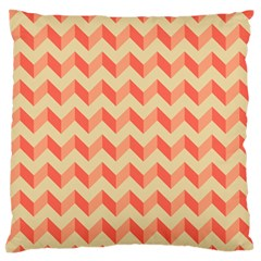 Modern Retro Chevron Patchwork Pattern Large Flano Cushion Case (one Side) by creativemom