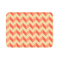 Modern Retro Chevron Patchwork Pattern Double Sided Flano Blanket (mini) by creativemom