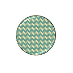 Mint Modern Retro Chevron Patchwork Pattern Golf Ball Marker 10 Pack (for Hat Clip) by creativemom