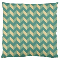 Mint Modern Retro Chevron Patchwork Pattern Large Cushion Case (two Sided)  by creativemom