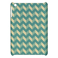 Mint Modern Retro Chevron Patchwork Pattern Apple Ipad Mini Hardshell Case by creativemom