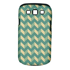 Mint Modern Retro Chevron Patchwork Pattern Samsung Galaxy S Iii Classic Hardshell Case (pc+silicone) by creativemom