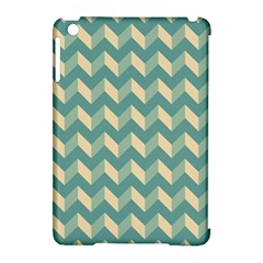 Mint Modern Retro Chevron Patchwork Pattern Apple Ipad Mini Hardshell Case (compatible With Smart Cover) by creativemom