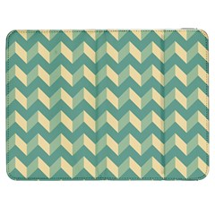Mint Modern Retro Chevron Patchwork Pattern Samsung Galaxy Tab 7  P1000 Flip Case by creativemom