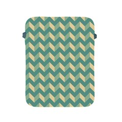 Mint Modern Retro Chevron Patchwork Pattern Apple Ipad Protective Sleeve by creativemom