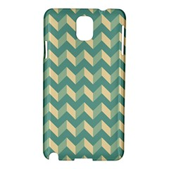 Mint Modern Retro Chevron Patchwork Pattern Samsung Galaxy Note 3 N9005 Hardshell Case by creativemom