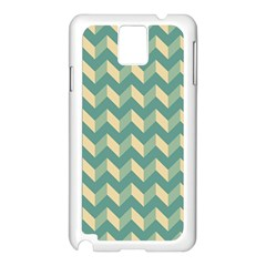 Mint Modern Retro Chevron Patchwork Pattern Samsung Galaxy Note 3 N9005 Case (white) by creativemom