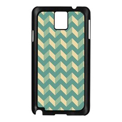 Mint Modern Retro Chevron Patchwork Pattern Samsung Galaxy Note 3 N9005 Case (black) by creativemom