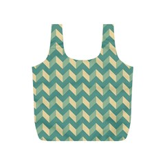 Mint Modern Retro Chevron Patchwork Pattern Reusable Bag (s) by creativemom
