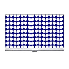 Blue And White Leaf Pattern Business Card Holder by creativemom