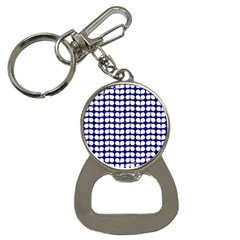 Blue And White Leaf Pattern Bottle Opener Key Chain by creativemom