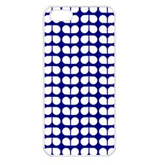 Blue And White Leaf Pattern Apple Iphone 5 Seamless Case (white) by creativemom