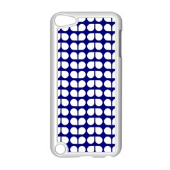 Blue And White Leaf Pattern Apple Ipod Touch 5 Case (white) by creativemom
