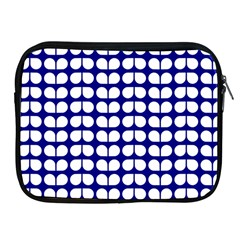 Blue And White Leaf Pattern Apple Ipad Zippered Sleeve by creativemom