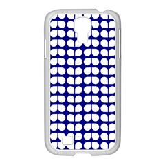 Blue And White Leaf Pattern Samsung Galaxy S4 I9500/ I9505 Case (white) by creativemom