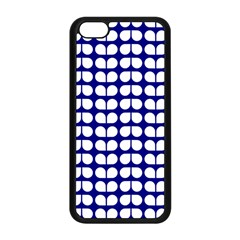 Blue And White Leaf Pattern Apple Iphone 5c Seamless Case (black) by creativemom