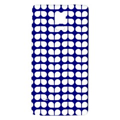 Blue And White Leaf Pattern Samsung Note 4 Hardshell Back Case by creativemom