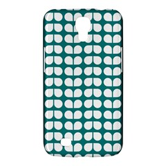 Teal And White Leaf Pattern Samsung Galaxy Mega 6 3  I9200 Hardshell Case by creativemom