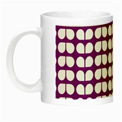 Purple And White Leaf Pattern Glow In The Dark Mug by creativemom
