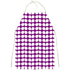 Purple And White Leaf Pattern Apron by creativemom