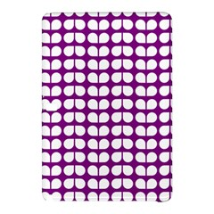Purple And White Leaf Pattern Samsung Galaxy Tab Pro 12 2 Hardshell Case by creativemom