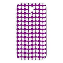 Purple And White Leaf Pattern Samsung Galaxy Mega I9200 Hardshell Back Case by creativemom