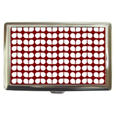 Red And White Leaf Pattern Cigarette Money Case by creativemom