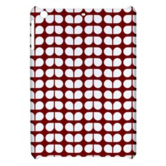 Red And White Leaf Pattern Apple Ipad Mini Hardshell Case by creativemom