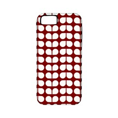 Red And White Leaf Pattern Apple Iphone 5 Classic Hardshell Case (pc+silicone) by creativemom