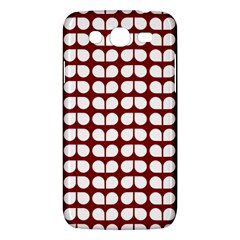 Red And White Leaf Pattern Samsung Galaxy Mega 5 8 I9152 Hardshell Case  by creativemom