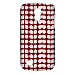 Red And White Leaf Pattern Samsung Galaxy S4 Mini (gt I9190) Hardshell Case  by creativemom