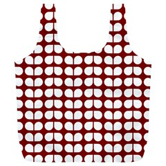 Red And White Leaf Pattern Reusable Bag (xl) by creativemom