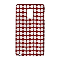 Red And White Leaf Pattern Samsung Galaxy Note Edge Hardshell Case by creativemom