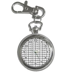 Gray And White Leaf Pattern Key Chain Watch by creativemom