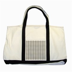 Gray And White Leaf Pattern Two Toned Tote Bag by creativemom